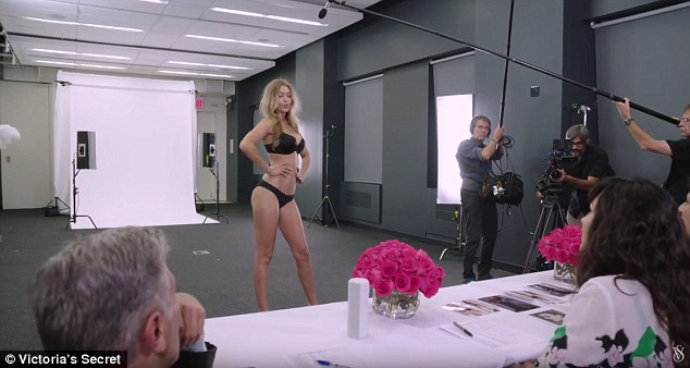 The video montage also includes the moment 20-year-old Gigi Hadid nailed her lingerie audition to land a spot on the coveted runway