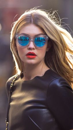 Gigi Hadid, beauty, blonde, 4k (vertical)