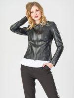 Женская черная кожаная куртка – Купить черные женские кожаные куртки недорого : цены, фото